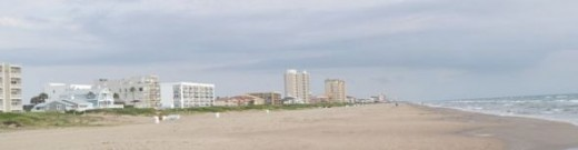 Beach Row of South Padre Hotels