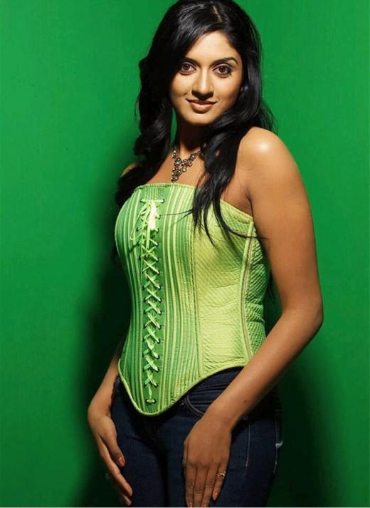 Vimala Raman's green pose