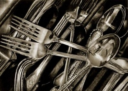 """""""The Fork and Spoon Club""""...Carbon and Graphite"""