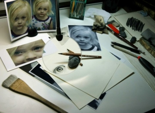"""My Drawing Table...the """"Work Zone"""" of My Studio!"""
