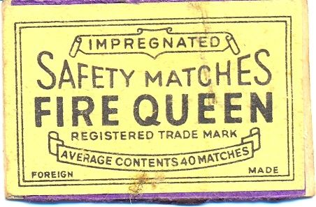 Fire Queen Safety Matches