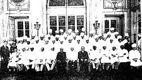 Escoffier's Team of White-Clad Professionals.  Ritz Carlton, Paris 1911.