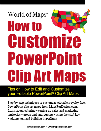Step by Step techniques for editing MapsforDesign PowerPoint, Royalty Free Clip Art Maps