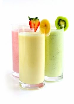 Fresh homemade soy milk makes a great base for smoothies