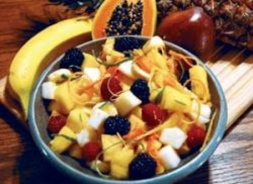 Yacon fruit salad