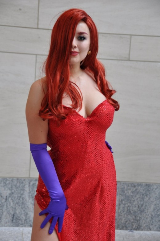 A classic Jessica Rabbit pose—stand with confidence.