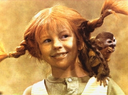Pippy Longstocking hair.