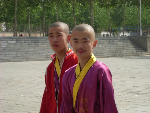 Some young kung fu performers after the show.