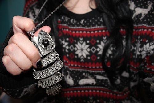 big owl neckalce