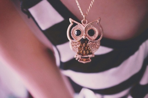 cute owl necklace inspiration