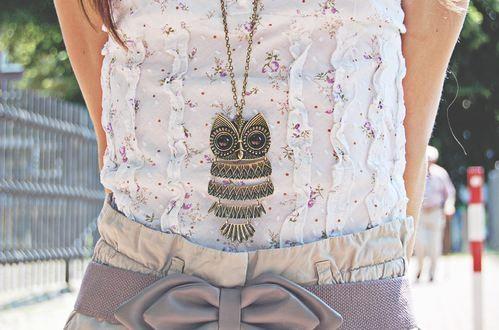 owl necklace fashion