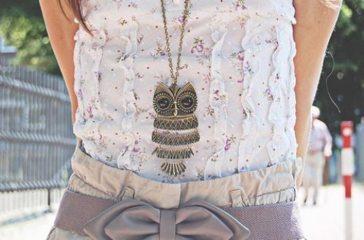 owl necklace fashion