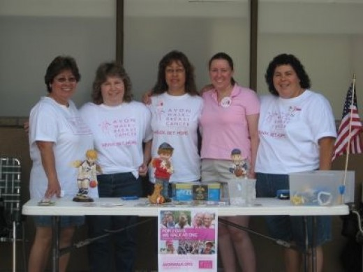 Team Warm Hearts fundraising for the Avon Walk