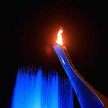 The Olympic Flame from Russia  2014 Olympics