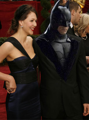 Maggie Gyllenhaal with Batman