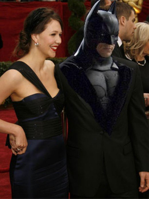 Maggie Gyllenhaal with Batman