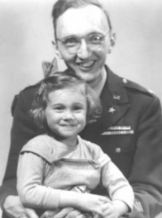 Paul Linebarger and daughter