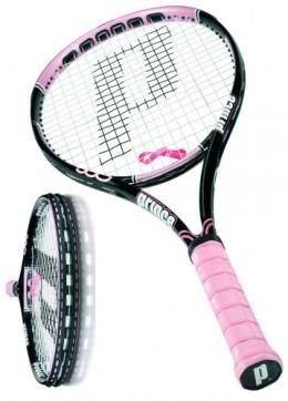 Pink tennis racquet!