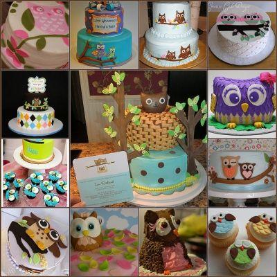 Owl Baby Shower Cake Pics