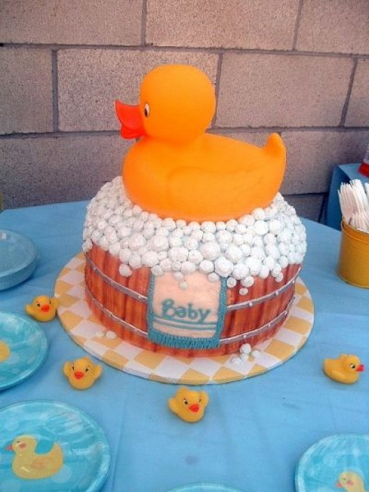 Rubber Duck Baby Shower Cake Pic