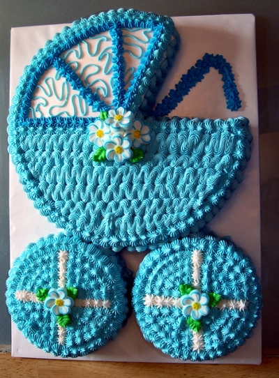 Baby Buggy Baby Shower Cake Pic
