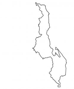 Malawi Map Outline
