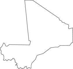 Mali Map Outline