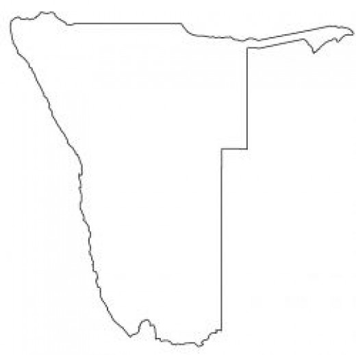 Namibia Map Outline