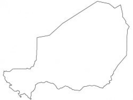 Niger Map Outline