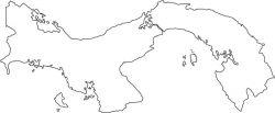 Panama Map Outline