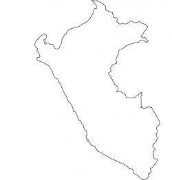 Peru Map Outline
