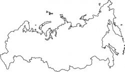 Russia Map Outline