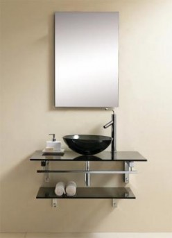 a modern and beautiful steel vanity faucet with a chrome finish