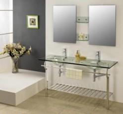 mirrors with steel trim are very sturdy and modern