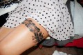 Thigh Garter Tattoos for Girls