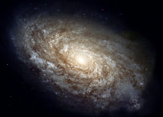 NGC 4414 spiral galaxy. Public domain image from NASA.