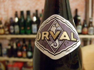 Orval Beer... with the Fish & the Ring