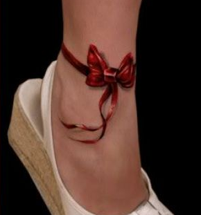 Get laced corset lacing ribbon and bow tattoos tatring for Bow tattoos meaning