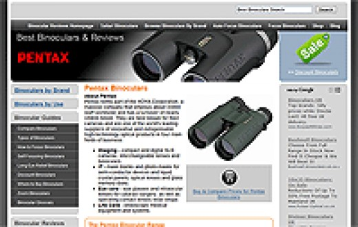 Pentax Page on the Best Binoculars and Binocular Reviews website