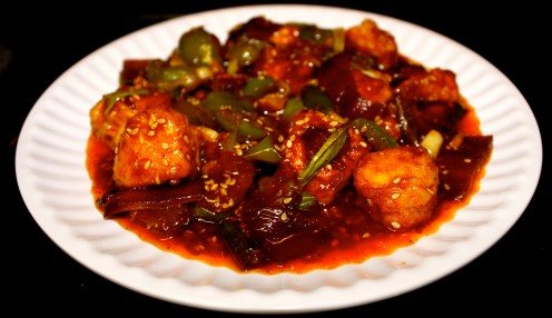 Hot and Sweet Sesame Chili Fish