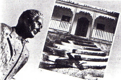 A statue of Solomon Wiseman now overlooks the hotel and the steps where he threw his wife Jane, to her death.
