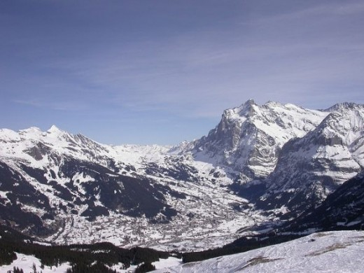 View from lift at Grindelwald