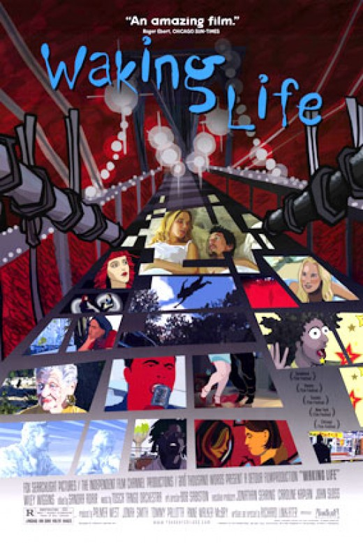 Original movie poster of Waking Life