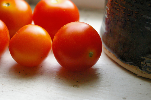 Container Grown Cherry Tomatoes from my backyard