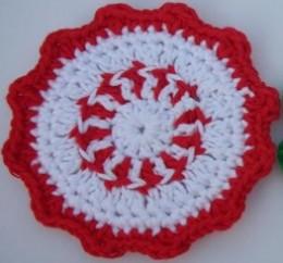 Peppermint Coaster FREE crochet pattern