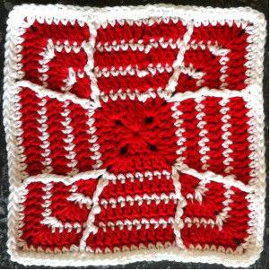 Candy Cane Dishcloth free crochet pattern