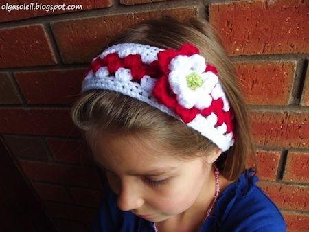 Granny Stripe Headband FREE crochet pattern