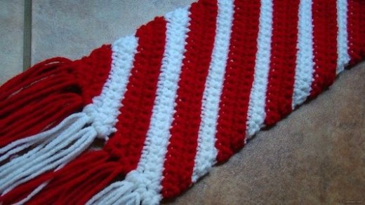 Candy Cane Patterns Free Candy Cane Scarf Free Crochet