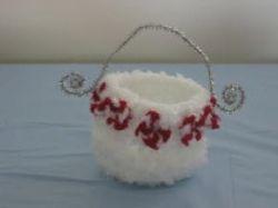 Crochet  Peppermint Candy Basket