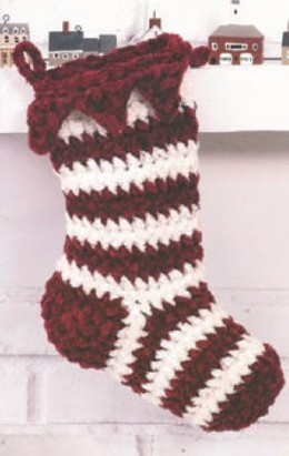 Peppermint Stocking FREE crochet pattern